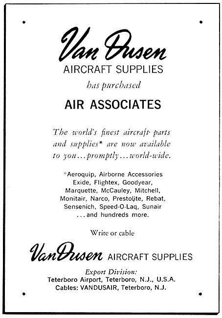 Van Dusen - Air Associates. Aircraft Parts Suppliers