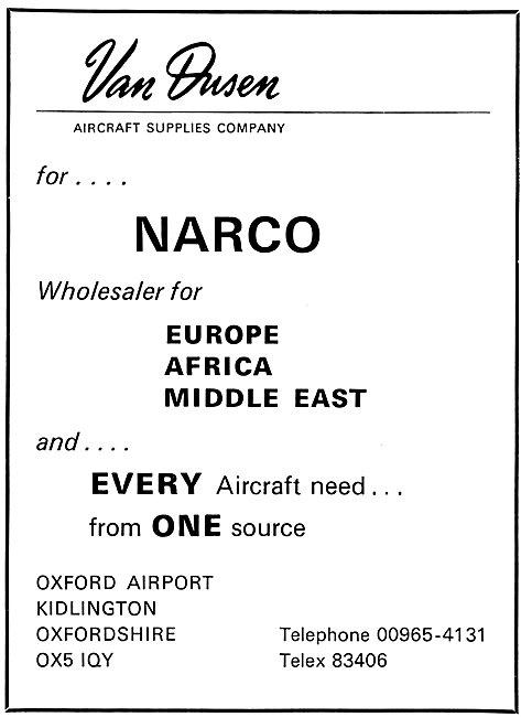 Van Dusen NARCO Avionics 1969