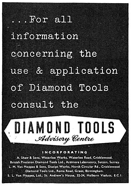 Van Moppes Diamond Machine Tools
