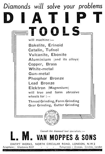 Van Moppes DIATIPT Diamond Tipped Tools