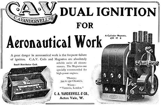 C.A.Vandervell Aero-Engine Dual Igintion Systems.