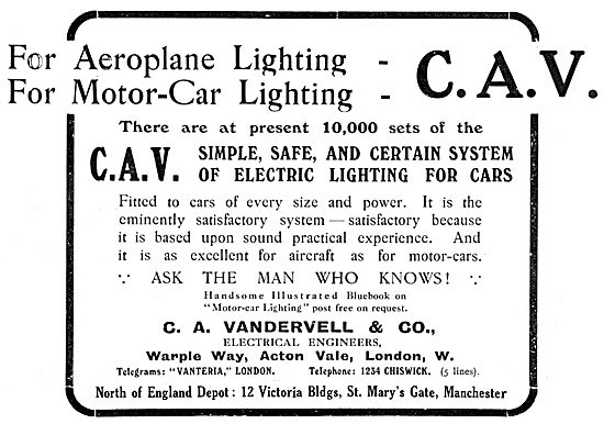 Vandervell Aeroplane Lighting