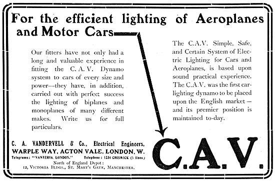 Vandervell C.A.V. Aeroplane Lighting