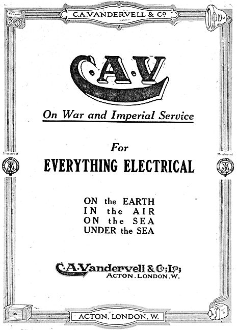 C.A.Vandervell - Electrical Parts & Accessories For Aircraft