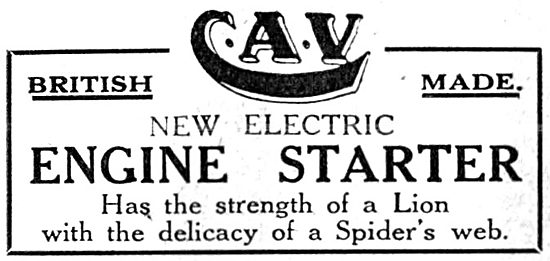 C.A.Vandervell Aero Engine Electric Starter 1917