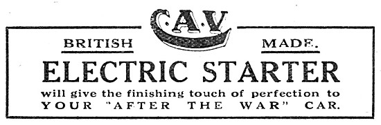 C.A.V. Vandervell Electrical Equipment