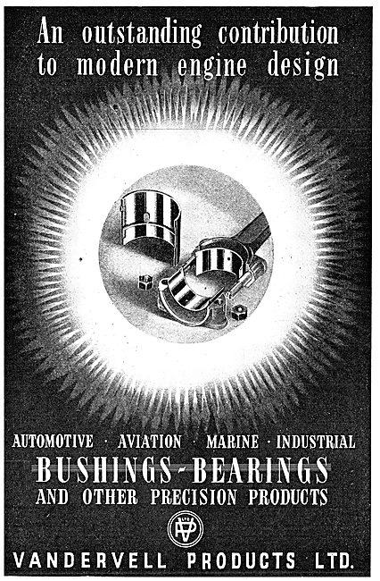 Vandervell Bearings & Bushes 1943 Advert