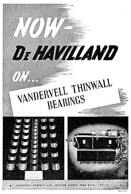 Vandervell Thin Wall Bearings