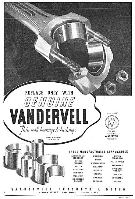 Vandervell Bearings
