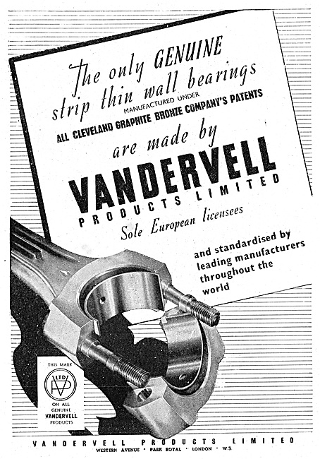 Vandervell Bearings - Cleveland Graphite Bronze Co Patents