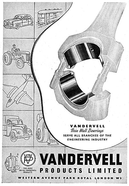 Vandervell Thin Wall Bearings For Aircraft