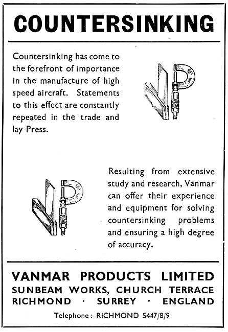 Vanmar Products Countersnking Services