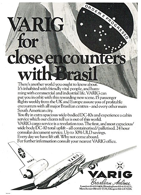 Varig: For A Close Encounter With Brazil