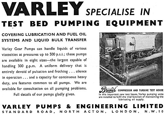 Varley Test Bed Pumping Equipment