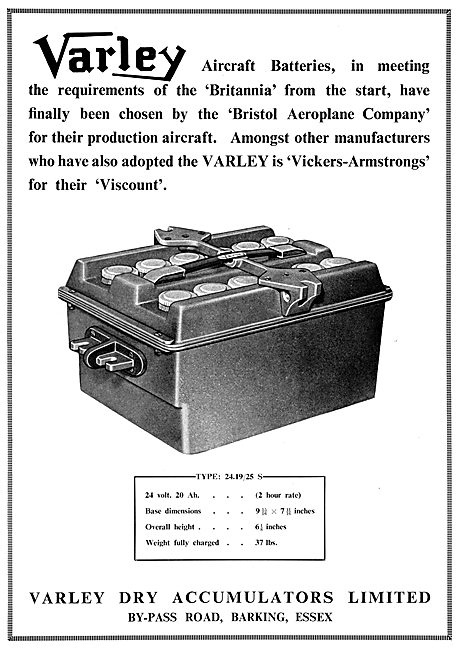 Varley Aircraft Dry Accumulators