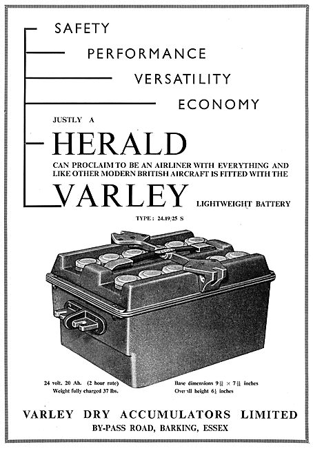 Varley Aircraft Batteries