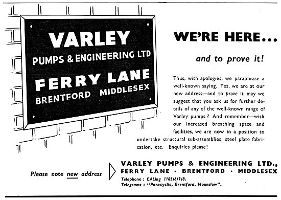 Varley Pumps - Valves. Pressure Reducing Valve