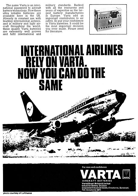 Varta Aircraft Batteries