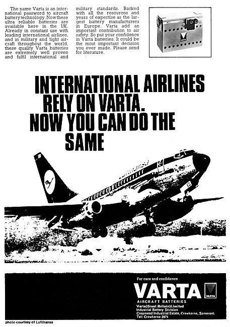 Varta Aircraft Batteries