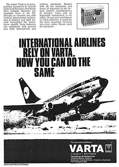 Varta Aircraft Batteries - Varta Accumulators