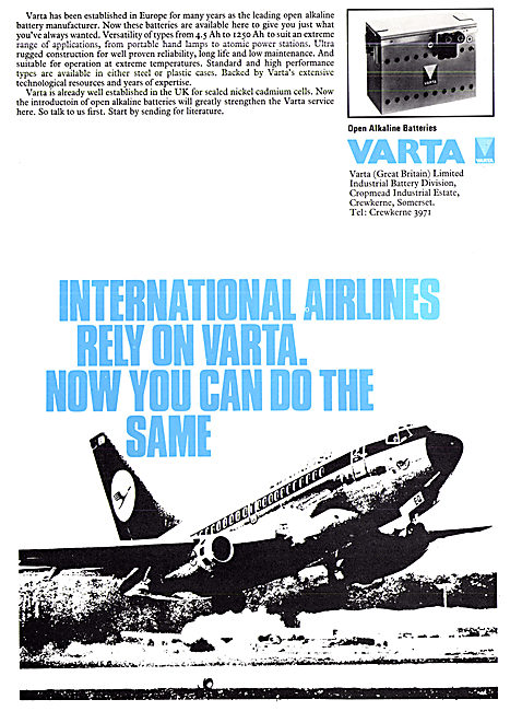 Varta Aircraft Batteries - Varta Accumulators