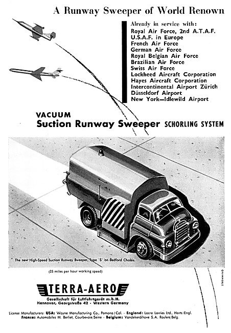 Terra-Aero Lacre Vacuum Suction Runway Sweeper Vehicles