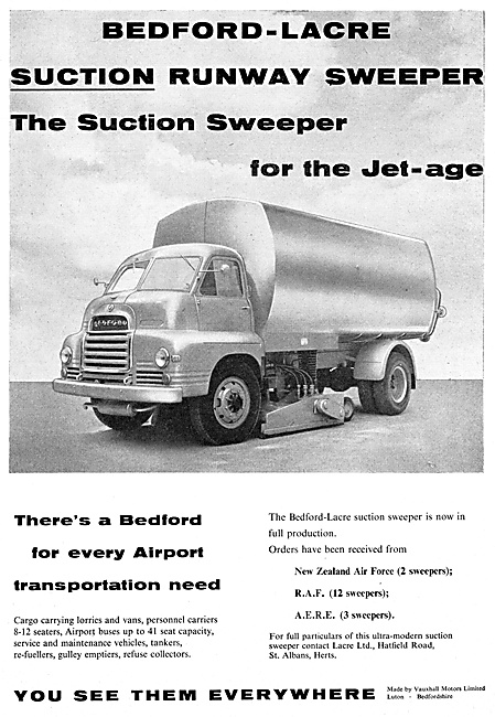 Lacre Vacuum Suction Runway Sweeper Vehicles 1959