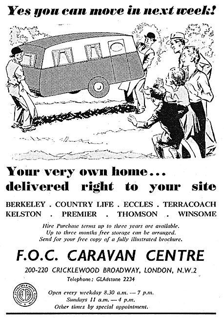 F.O.C. Caravan Centre : Berkeley. Country Life. Eccles.Terracoach