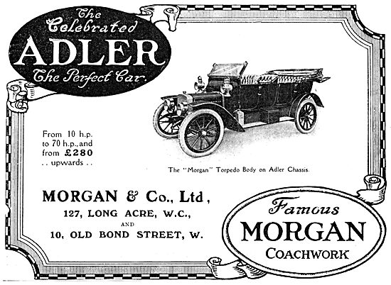 Morgan Torpedo Body Car On Adler Chassis 1912