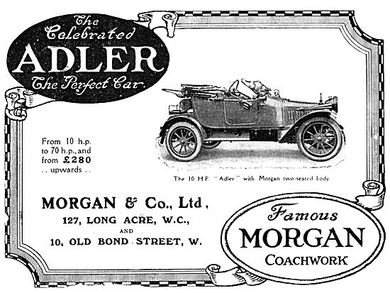 Morgan & Co - Adler Morgan 10HP Motor Car 1913