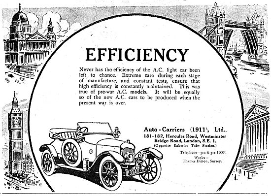 Auto-Carriers. Thames Ditton.  A.C.Cars