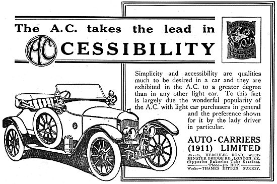 Auto-Carriers. 1917  A.C.Cars
