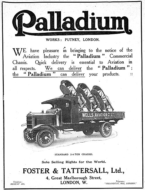 Palladium Lorries & Commercial Vehicles - 1917 Advert
