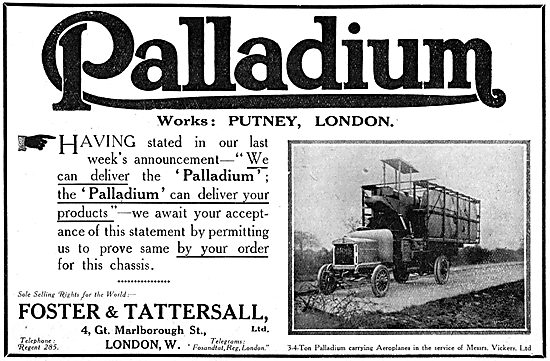 WW1 Palladium Lorries & Commercial Vehicles