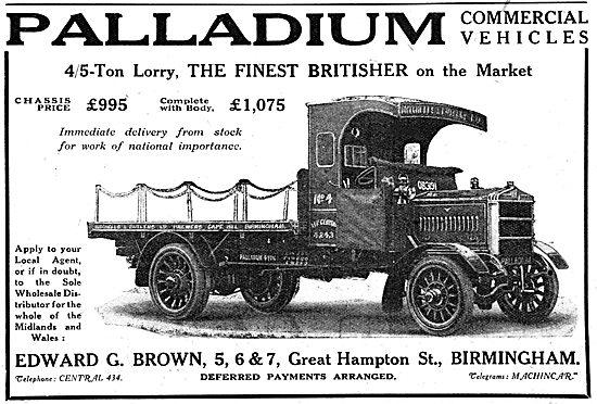 Palladium Lorries & Commercial Vehicles - WW1