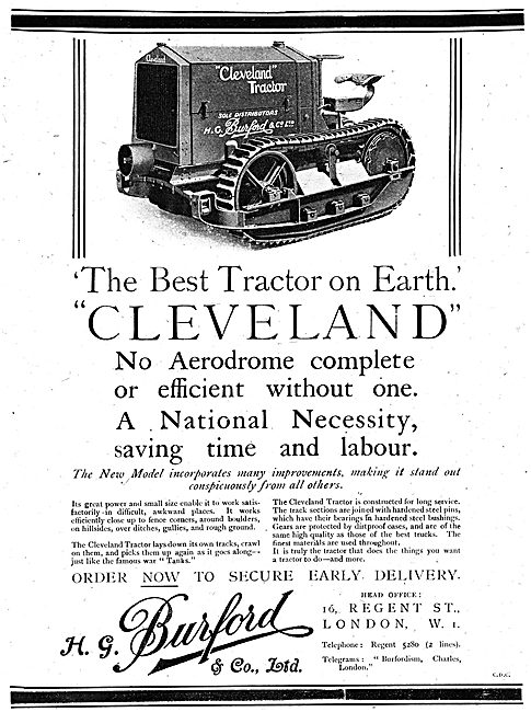 H.G.Burford & Co - Burford Cleveland Tractor 1918 Advert