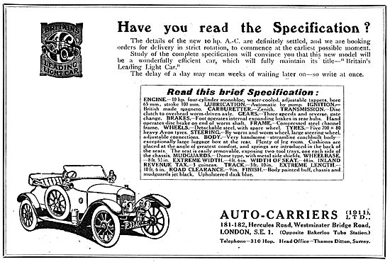 Auto-Carriers - A.C.Cars