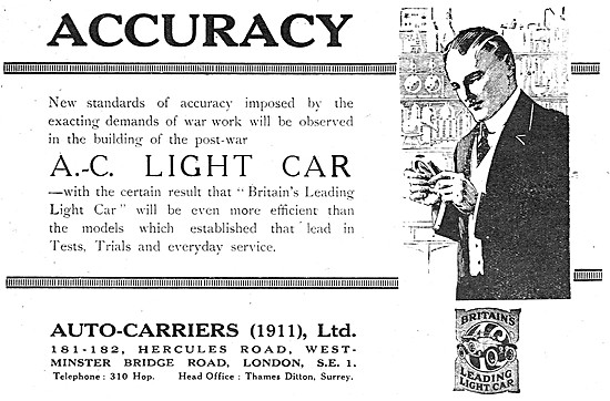 Auto-Carriers. A.C.Light Cars