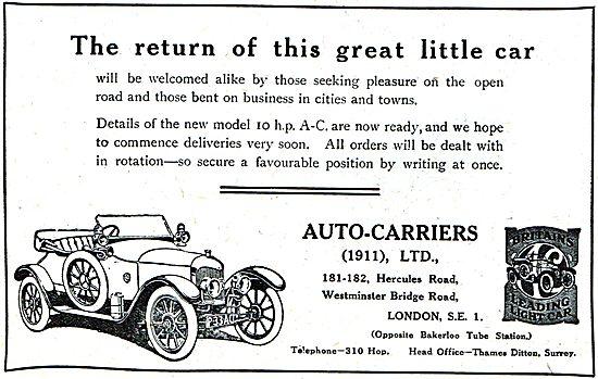 Auto-Carriers Ltd: A.C.10HP Car