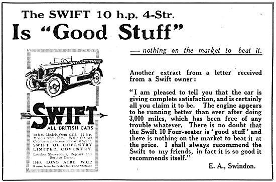 Swift Motor Cars 1925