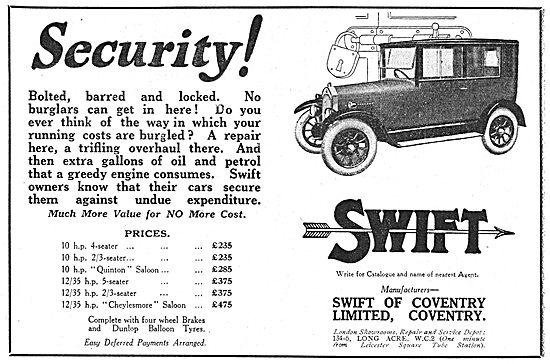 Swift 10 HP 4 Seater Motor Car