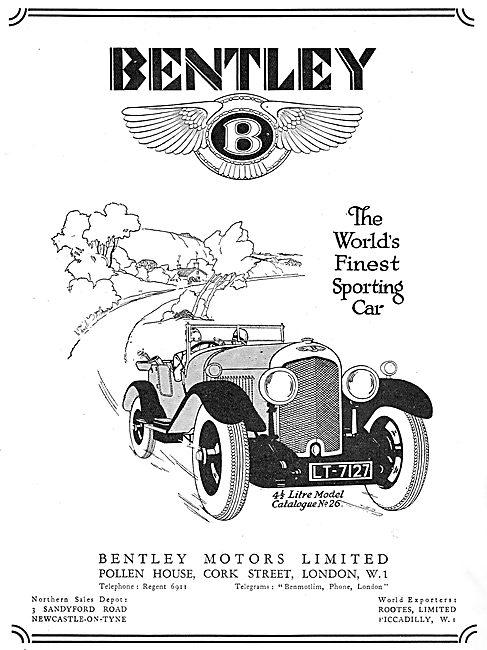 Bentley 41/2 Litre - 1929 Advert
