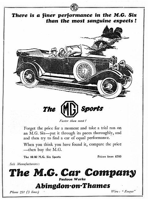 MG 18/80 Six Sports 1929