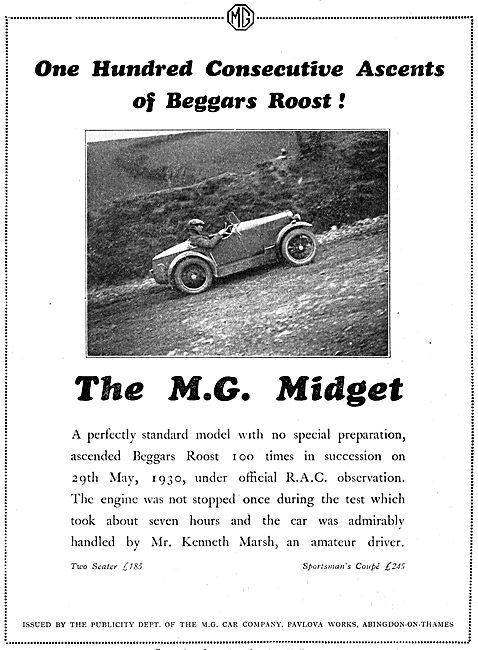 MG Midget Beggars Roost 1930