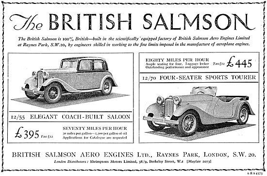 British Salmson 12/55 : British Salmson 12/70