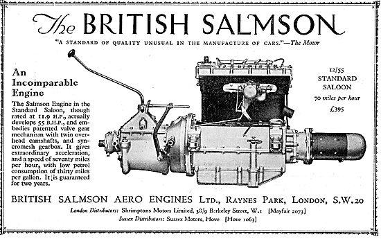 British Salmson 12/55 Engine