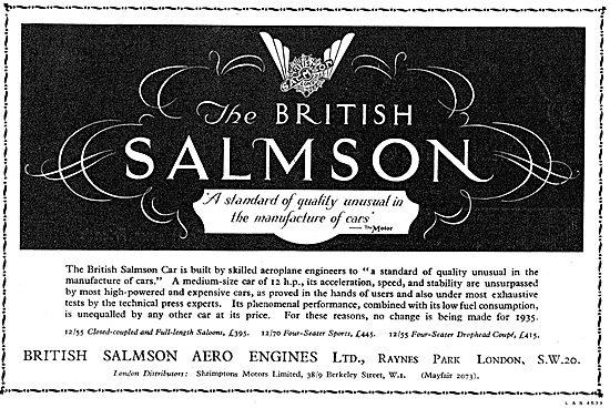 British Salmson Cars 1934