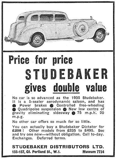 Studebaker 5-Seater Aerodynamic Saloon Car