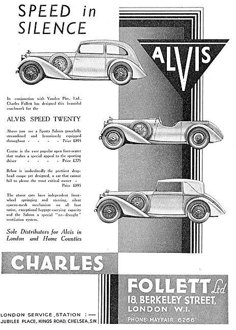 The Alvis Speed Twenty  - Speed In Silence