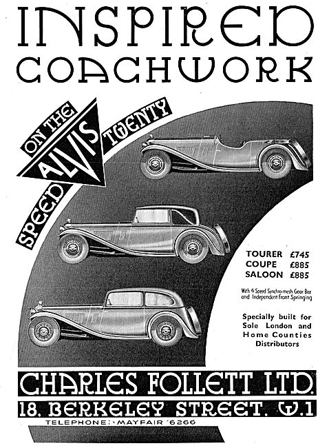 Alvis Speed Twenty - Inspired Coachwork